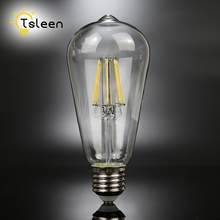 TSLEEN Cheap G45 A60 ST64 LED Lamp Lampada E27 AC 220V Retro Old Edison Globe Filament Light Bulb 4W 8W 12W 16W Decor Vintage