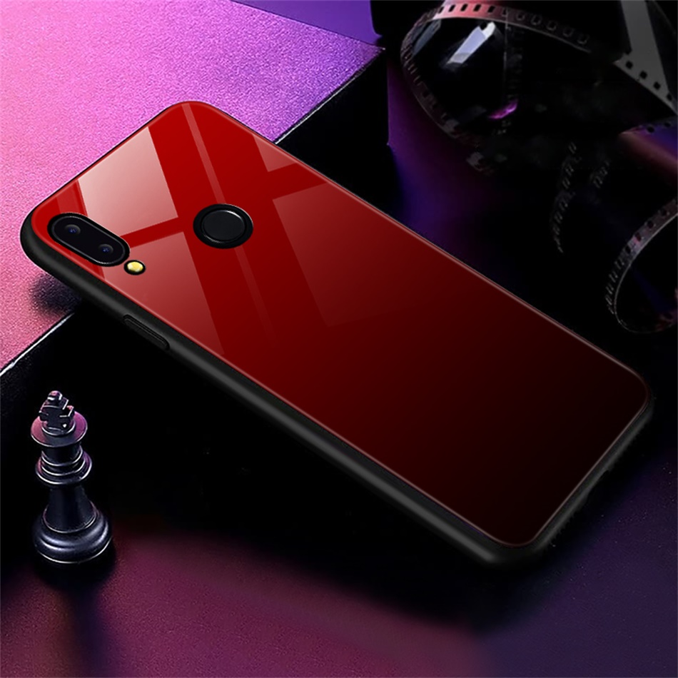 Gradient Glass Back Case For Huawei P20 Lite P Smart Plus Nova 3i Case Luxury Silicone Case For Huawei Honor 10 9 Lite 8X Coque (15)