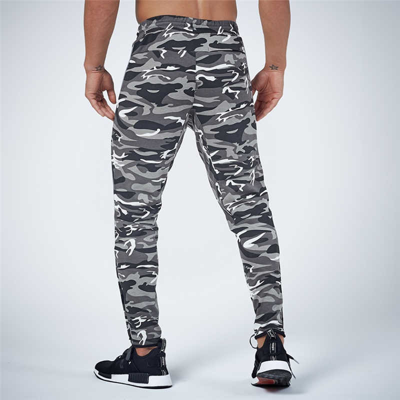 GYMOHYEAH NEW pants Men's High quality workout bodybuilding clothing casual camouflage sweatpants joggers pants skinny trousers 17