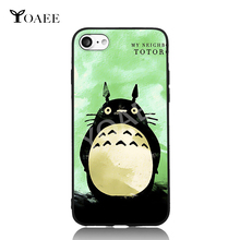 7 Choices My Neighbor Totoro Japan Cartoon Anime For iPhone 6 6s 7 Plus Case TPU Phone Cases Cover Mobile Protection Decor Gift