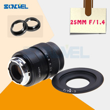 Buy 25mm F1.4 CCTV TV Movie lens+C Mount Panasonic Micro 4/3 m4/3 GF1 GF2 GF3 GF5 GF6 GX1 G1 G2 G3 G5 GH1 GH2 GH3 C-M4/3 for $17.49 in AliExpress store