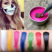 Halloween Party Hot Face Painting Flash Tattoo Face Body Paint Oil Painting Art Fancy Dress Beauty Makeup Face Paint Tools(China)