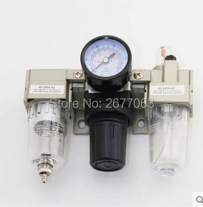 AC2000-02 air source triplet AF2000-02+AR2000-02+AL2000-02 filter pressure regulating valve<br>