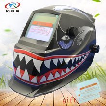 welding helmet full Automatic solar and battery auto darkening welding mask grinding adjust mig tig Fast Shipping GD02(2233FF)W(China)