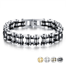 FUNIQUE Punk Rock 316L Stainless Steel Biker Mens Bracelet Link Chain Motorcycle Bike Bicycle Chain Bracelets Bangles Jewelry