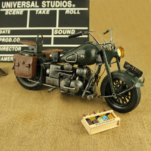 Hand made Tin Model Retro Classic Harley-Davidson Craft Desktop Display quality art work Home Decoration kid toy gift(China)