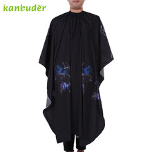 Pretty Kanbuder New Cutting Hair Waterproof Cloth Salon Barber Gown Cape Hairdressing uniforms Loose collar Apron 1PC