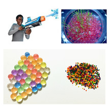 10000 Particles /lot Pearl shaped Crystal Soil Water Beads Mud Grow Magic Jelly balls wedding Home Decor(China)
