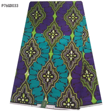 Purple african wax prints fabric/high quality nigerian java wax prints fabric for african cloth dress Wholesale price P76GD033