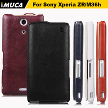 For Sony Xperia ZR Case iMUCA Genuine Flip Leather Case Coque for Sony Xperia ZR M36H C5502 C5503 Back Cover Mobile Phone Cases