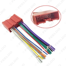 5Pcs Car Radio CD Player Wiring Harness Audio Stereo Wire Adapter for Mazda Install Aftermarket CD/DVD Stereo #FD-2953