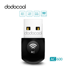 dodocool 2.4Ghz & 5Ghz Dual Band AC600 Wireless WiFi Dongle USB Adapter 802.11 ac/a/b/g/n 150Mbps 433Mbps Wi-fi Network LAN Card