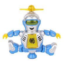 Strong Breeze Dance Flutter And The Intelligent Robot Rotate 360 Degrees With Light Music Electric Toy(China)