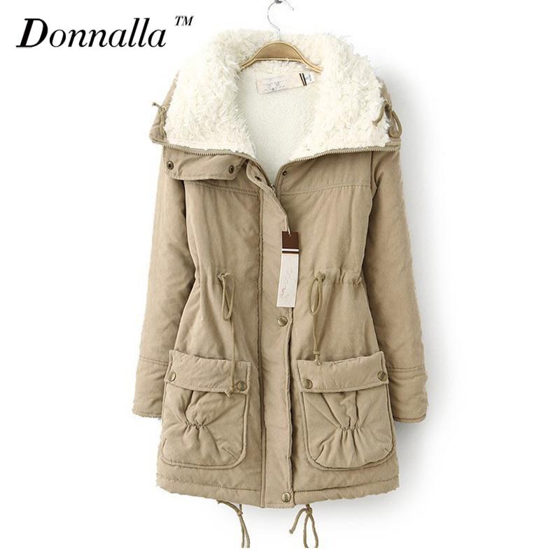 New Autumn Winter Jacket Coat Women Parka Woman Clothes Solid Long Jacket Slim  Womens Winter Jackets And Coats 2016Îäåæäà è àêñåññóàðû<br><br>