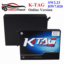 New Arrival KTAG V7.020 Firmware Master Version K-TAG SW 2.23 Unlimited Tokens Encrypted More 100 ECU Types K TAG FW 7.020(China)