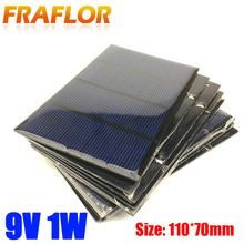 5PCS/Lot 9V 1W Solar Panel Battery Charger Module System Solar Energy Power Charger For Mobile Phone Small Solar Cell Kits