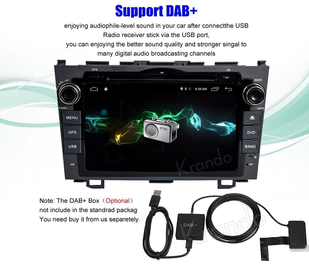 Krando honda CRV 2006-2011 android car radio gps navigation system multimedia player (6)