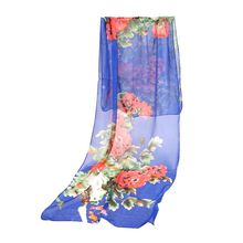 Latest Fashion Beach Chiffon Women Scarf Shawl Thin Soft Shawls Printing Lady Scarves(China)