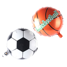 18inch Football & Basketball Balloon Aluminum Foil Balloons Party Decoration Balloon Celebration Supplies