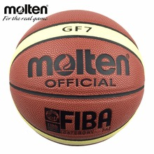 Molten Basketball Ball GF7 Size 7 PU Leather Basket Ball For Outdoor Basketball Game&Training Free With Ball Net Mesh+Needlle(China)