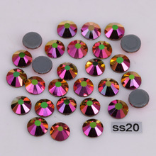 1440pcs/Lot, High Quality ss20 (4.8-5.0mm) Rainbow-Rose-Gold Hotfix Rhinestones / Iron On Flat Back Crystals