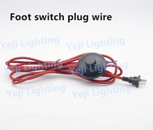 2pin electric power lamp power cord wire with foot switch Red Retro braid wire for floor lamps, table lamps Lighting Accessories