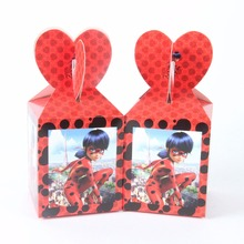6pcs/lot Cool Miraculous Ladybug Cat Candy Box Gift Girl Cartoon Theme Kid Boy/Girl Birthday Party supplier Decoration(China)