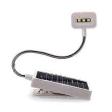 Indoor Led Solar Battery Desk Light Flashlight Mini Portable Book Lamp LED Clip Solar Lights For Reading Study Energy Saving