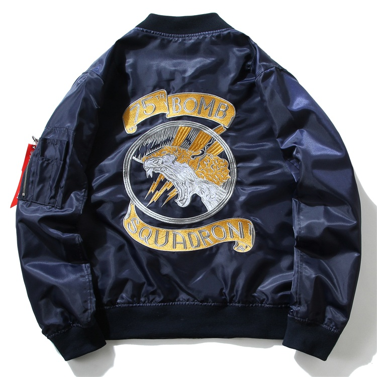 Embroidery Dragon Bomber Jackets 3