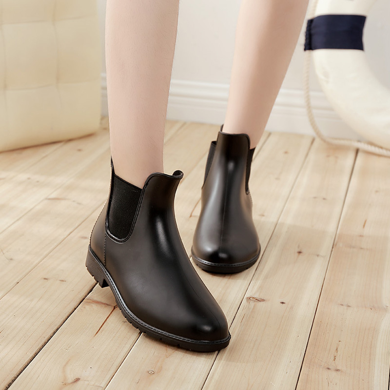 2017 New Fashion Boots Pure women Low Water Shoes Elastic Type U Boots womens rainboot Ankle Boots<br><br>Aliexpress