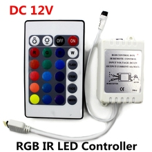 DC12V RGB IR Remote Controller 24 Keys LED Driver Dimmer For LED Strip light SMD 2835/3528/5050/5730/5630/3014(China)