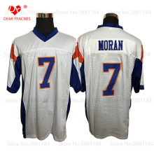 2017 New Mens Cheap American Football Jerseys #7 Alex Moran Jersey White Retro Stitched Shirt for Men Mountain State Jersey