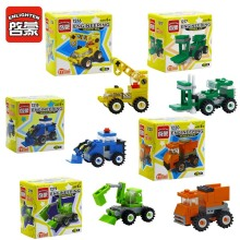 ENLIGHTEN 5pcs/lot Urban Construction Engineering Vehicles Model Building Blocks Sets DIY Assembling Bricks Educational Kids Toy
