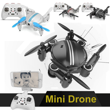 Mini RC Drone 2.4G6 Axis Gyro RC Helicopter Roll One Key Return Dual Mode 4CH Remote Control Mini Helicopter Toys With HD Camera