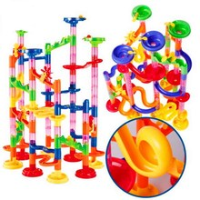 Branded 105Pcs?Set DIY Marble Race Run Maze Balls Track Building Blocks Kids Educational Construction Game Toys Gift