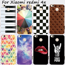 Cases For Xiaomi Redmi 4X 5.0 inch Cover Bags Hard Plastic Soft TPU Cell Phone Skin Sexy Girl Lips Anti-Skidding Hood Housing
