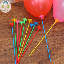 10sets 42cm Holiday children 's toys balloon accessories stick baby birthday balloon decorations LYQ(China)