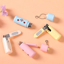 Portable Cute Cartoon Nail Clipper Smile Face Nail Cutter Manicure Tools For Girl Boy Kids Birthday Gift 1pcs