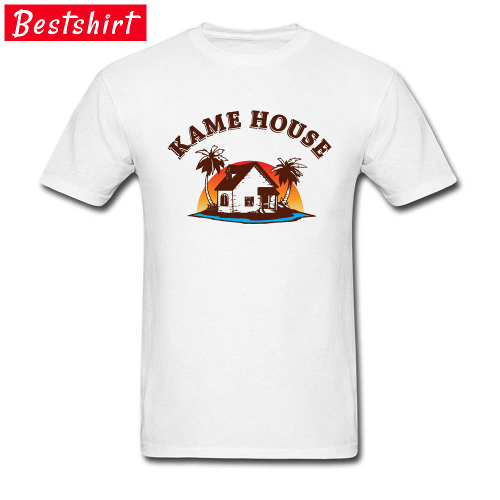Graphic Men's T Shirt Crew Neck Short Sleeve 100% Cotton Kame House 5781 Tops Shirt Design Top T-shirts Drop Shipping Kame House 5781 white