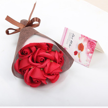 7pcs/bouquet  Rose Soap Flowers Romantic Wedding Party Gift Artificial Flower Decor Mother's Day Gift