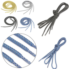 1 Pair Multifunctional 120cm Reflective Runner Shoe Laces Safety Shoelaces Custom Shoestrings boost Basketball Shoes Round Rope(China)