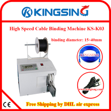 Desktop Electric Wire Harness Roll/Coil Binding Bundling & Typing Machine KS-K03+ Free Shipping by DHL air express