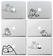 Little Cat Simon for Apple Logo Cover Sticker for Apple MacBook Skin Air 11 13 Pro 13 15 17 Retina Local Vinyl Decal Laptop
