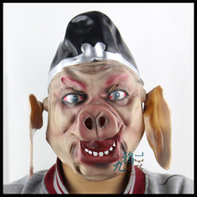 Free shipping Saw 3 Pig Mask Scary halloween Mask Horror realistic silicone full head masquerade scary masks mardi gras