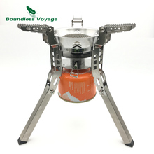 Boundless Voyage Outdoor Camping Pinic Gas Stove with Bag 3800w Big power Gas Stove with Free Lighter BV1014(China)