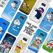 Ocean Cartoon Cat Doraemon Clear Case Cover Coque Shell for Samsung Galaxy S3 S4 S5 Mini S6 S7 Edge Plus
