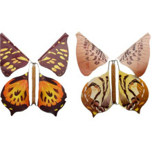 Free shipping 30pcs magic butterfly creative surprising gift kids toy wind-up paper flying butterfly