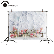 Allenjoy photography backdrop birthday white paper wall wedding background professional fashion fantasy vinyl photocall