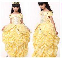 Buy princess belle Halloween Beauty Beast Costume kid child Girl 100-140cm gifCostume Suit Fancy Dress Cosplay Costume for $14.39 in AliExpress store