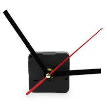 Best Price Black Quartz Wall Clock Movement Mechanism Long Spindle Black and Red Hands DIY Tool Repair Parts Kit with Washer Hot(China)